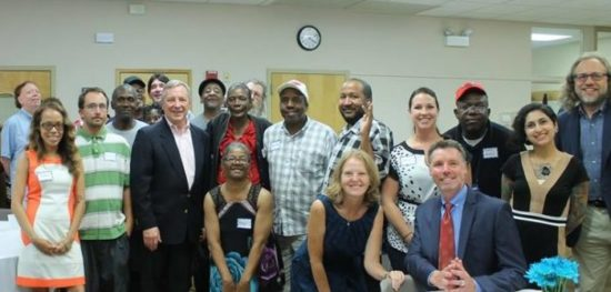 Senator Dick Durbin Blue Island Thresholds Substance Use Visit