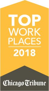 "Banner reading ""Top Work Places 2018 