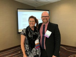 travis atkinson and nicole pashka at the PRA conference